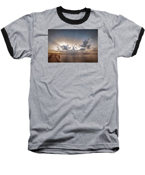 Baseball T-Shirt featuring the digital art Sunset Aftermath by Phil Mancuso