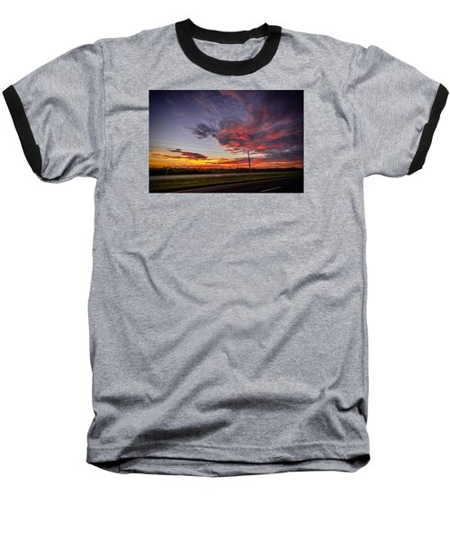 Sunset Along Jd Baseball T-Shirt