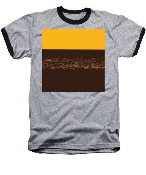 Sunset And Lake Michigan Baseball T-Shirt