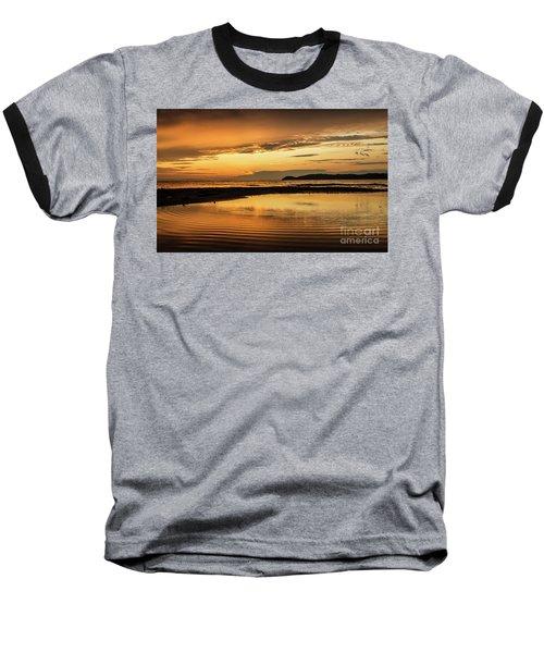 Sunset And Reflection Baseball T-Shirt