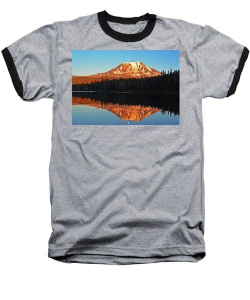 Baseball T-Shirt featuring the photograph Sunset And Sunrise Mt Adams by Jack Moskovita