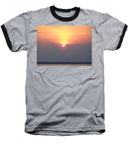 Baseball T-Shirt featuring the photograph Sunset And The Storm by Sandi OReilly