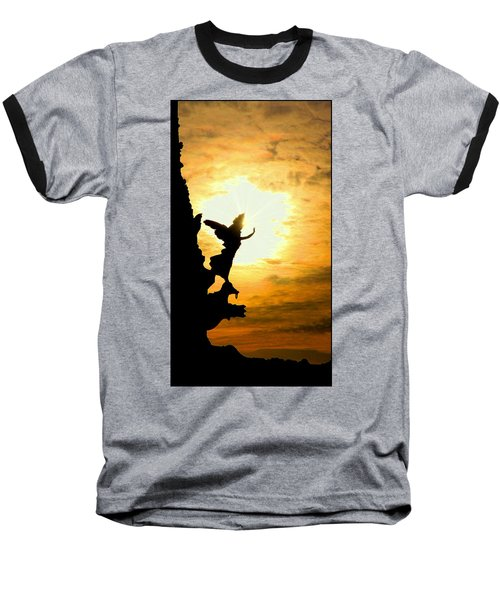 Sunset Angel Baseball T-Shirt