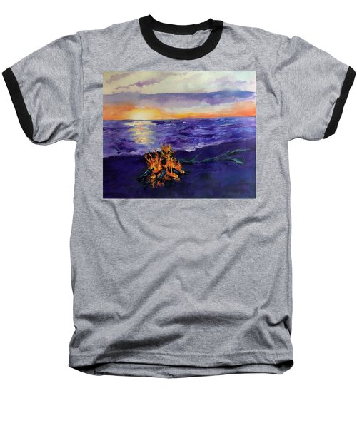 Sunset, Angola On The Lake Baseball T-Shirt