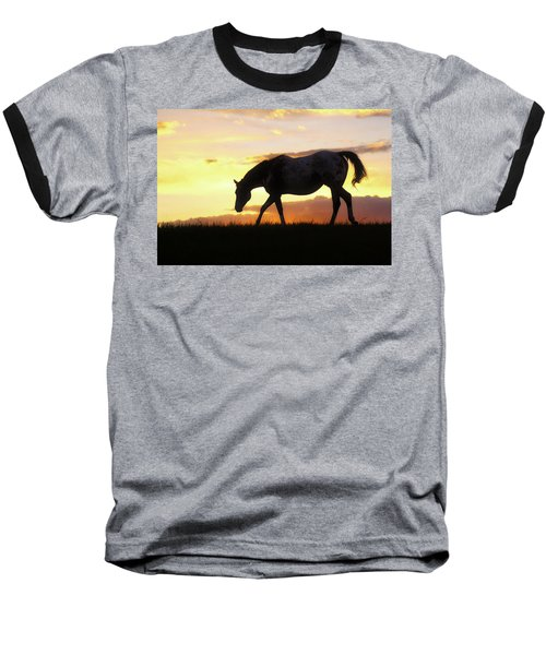 Sunset Appy Baseball T-Shirt