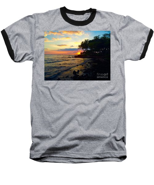 Sunset At A-bay Baseball T-Shirt