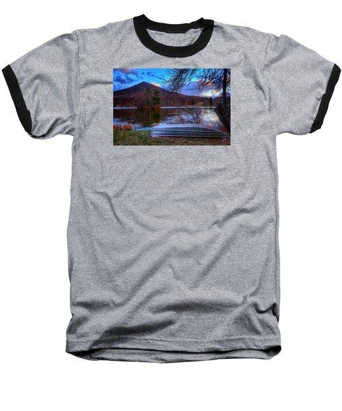 Sunset At Abbott Lake Baseball T-Shirt by Steve Hurt