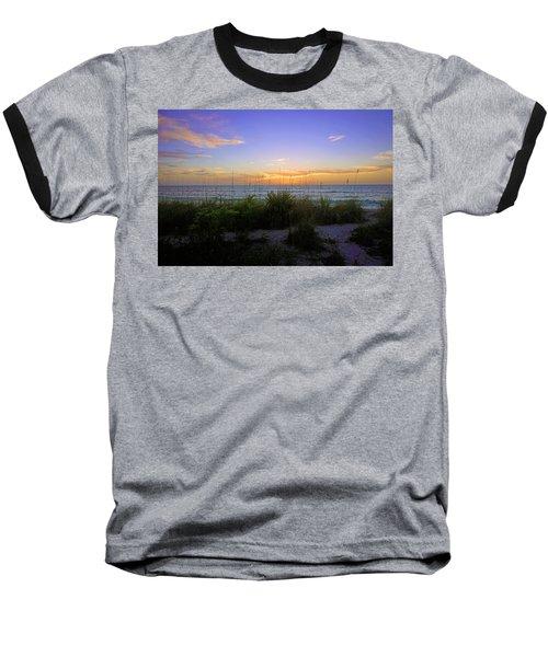 Sunset At Barefoot Beach Preserve In Naples, Fl Baseball T-Shirt