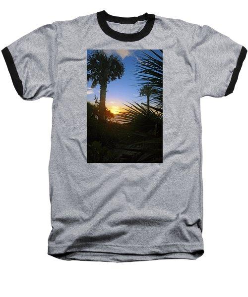 Sunset At Bearefoot Beach In Naples Baseball T-Shirt