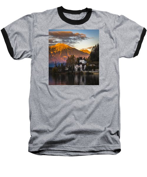 Sunset At Bled Baseball T-Shirt