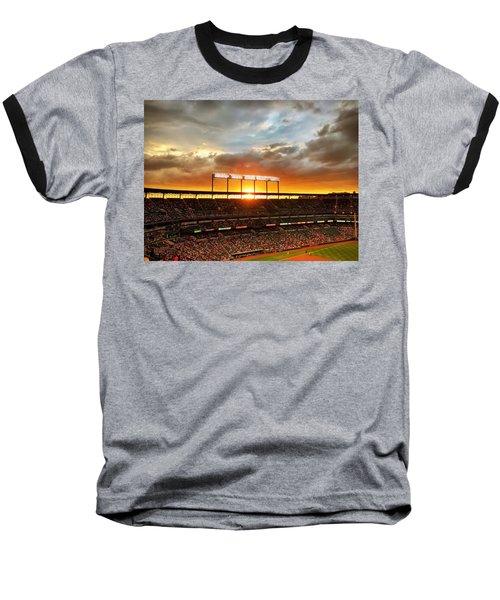 Sunset At Camden Yards Baseball T-Shirt