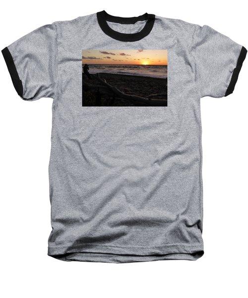 Sunset At Cap Rouge Baseball T-Shirt by Joel Deutsch