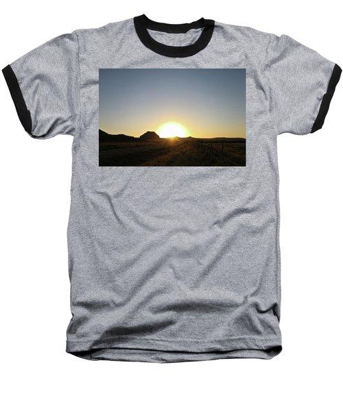 Sunset At Castle Butte Sk Baseball T-Shirt