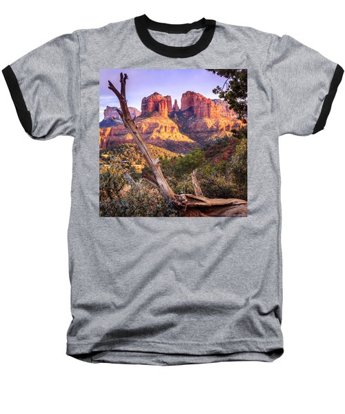 Sunset At Cathedral Rock Baseball T-Shirt by Alexey Stiop