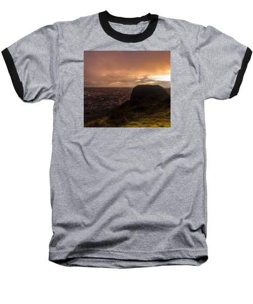 Sunset At Cavehill Baseball T-Shirt