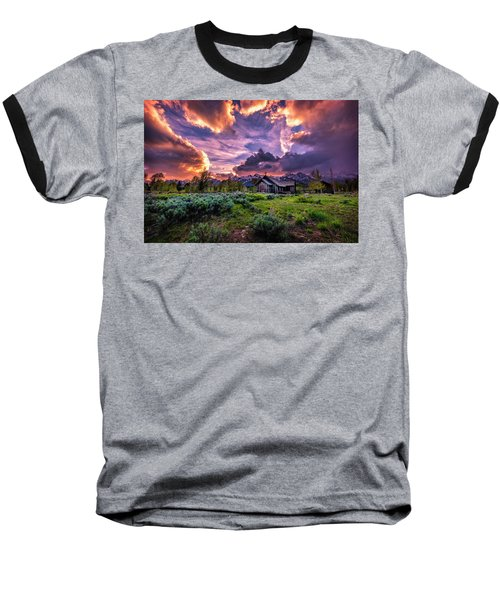 Sunset At Chapel Of Tranquility Baseball T-Shirt