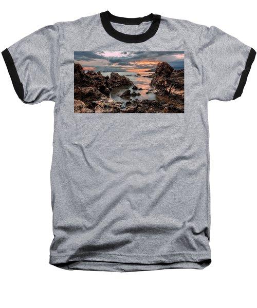 Sunset At Charley Young Beach Baseball T-Shirt