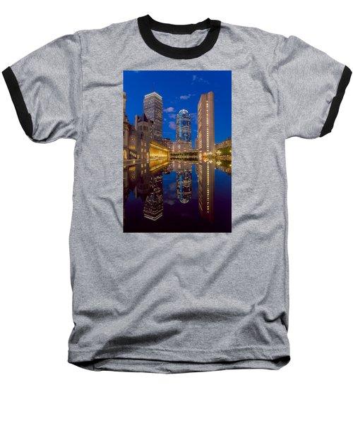 Sunset At Christian Plaza Baseball T-Shirt