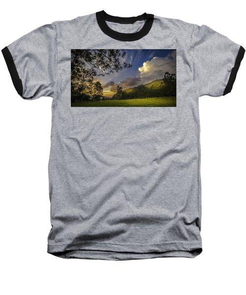 Sunset At Cocora Baseball T-Shirt