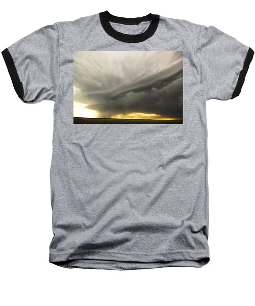 Sunset At Dalhart Texas Baseball T-Shirt