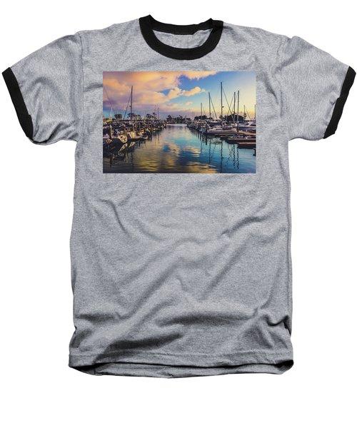 Sunset At Dana Point Harbor Baseball T-Shirt