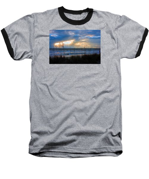 Sunset At Delnor Wiggins Pass State Park Baseball T-Shirt