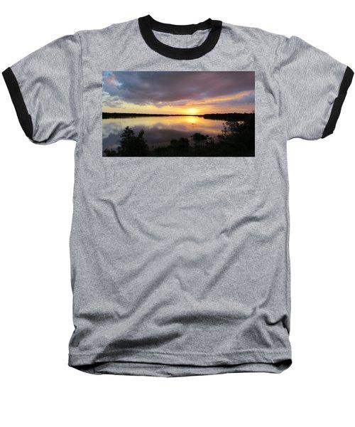 Sunset At Ding Darling Baseball T-Shirt by Melinda Saminski