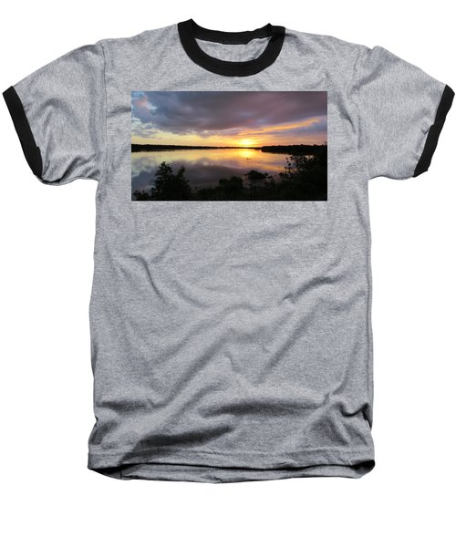 Sunset At Ding Darling Baseball T-Shirt