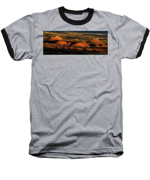 Sunset At Donkey Flats Baseball T-Shirt