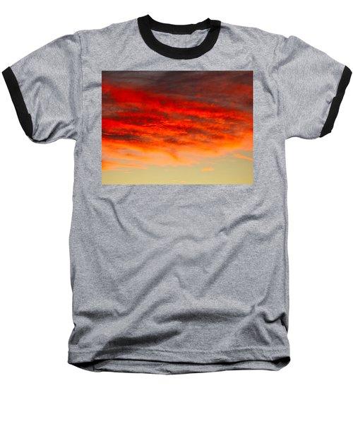 Sunset At Eaton Rapids 4826 Baseball T-Shirt