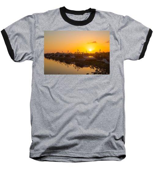 Sunset At Everglades Holiday Park Baseball T-Shirt