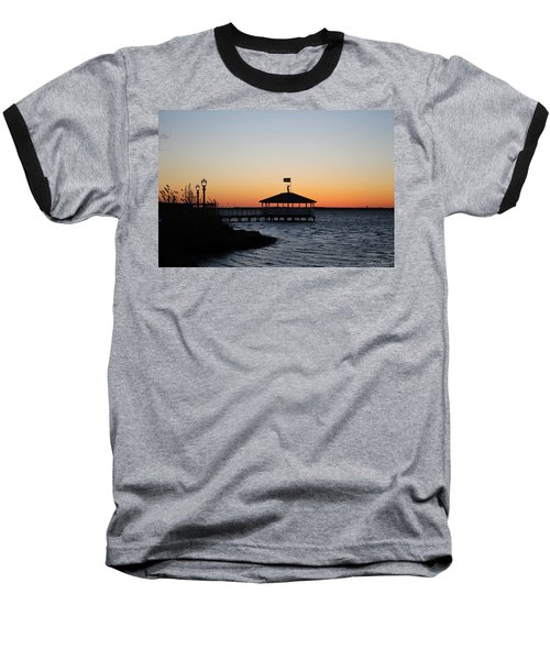 Sunset At Fagers Island Gazebo Baseball T-Shirt by Robert Banach