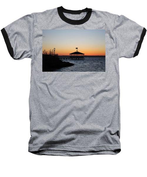 Sunset At Fagers Island Gazebo Baseball T-Shirt