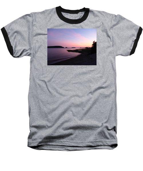 Sunset At Five Islands Baseball T-Shirt