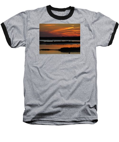 Baseball T-Shirt featuring the photograph Sunset At Forsythe Reserve 2 by Melinda Saminski