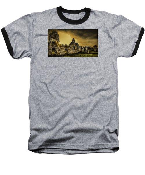 Sunset At Grace Dieu Baseball T-Shirt