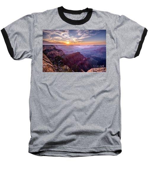 Sunset At Grand Canyon Baseball T-Shirt