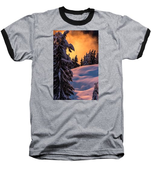 Sunset At Grouse Mountain Baseball T-Shirt by Sabine Edrissi