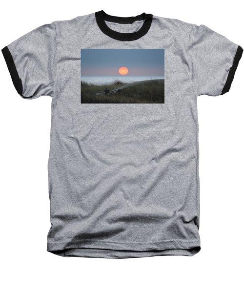 Sunset At Halfmoon Bay Baseball T-Shirt