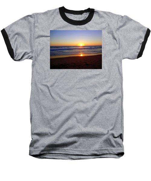 Sunset At Hermosa Baseball T-Shirt