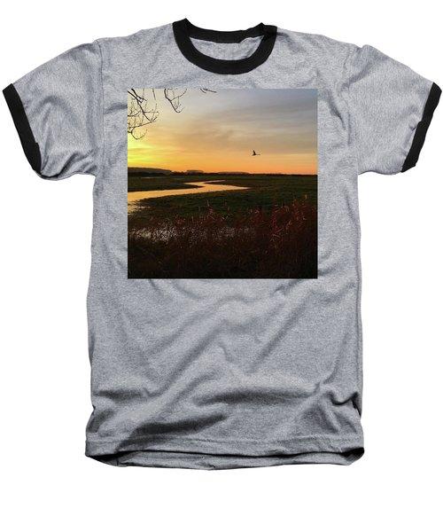 Sunset At Holkham Today  #landscape Baseball T-Shirt by John Edwards
