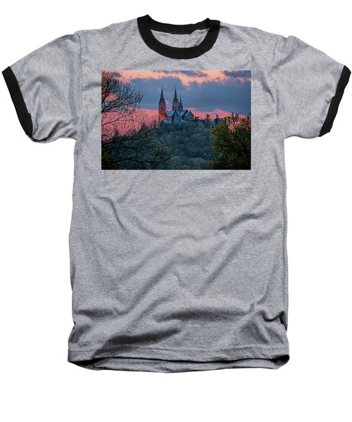 Sunset At Holy Hill Baseball T-Shirt