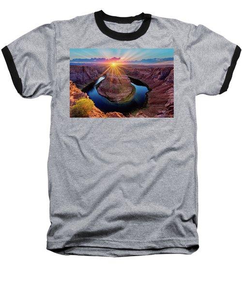 Sunset At Horseshoe Bend Baseball T-Shirt