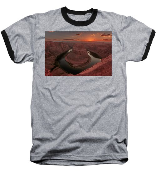 Sunset At Horseshoe Bend Baseball T-Shirt