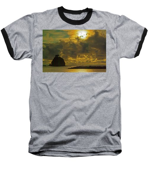 Sunset At Jones Island Baseball T-Shirt