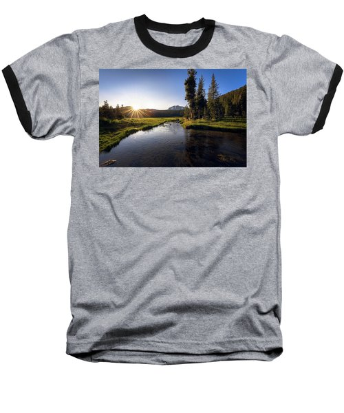 Sunset At Kings Creek In Lassen Volcanic National Baseball T-Shirt
