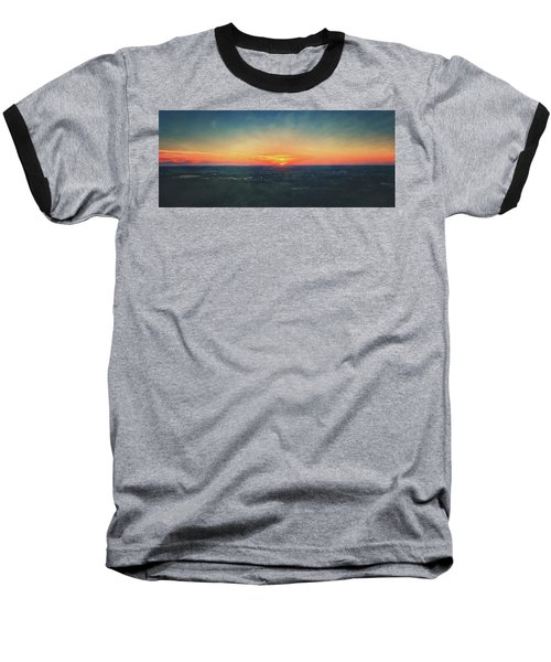 Baseball T-Shirt featuring the photograph Sunset At Lapham Peak #3 - Wisconsin by Jennifer Rondinelli Reilly - Fine Art Photography