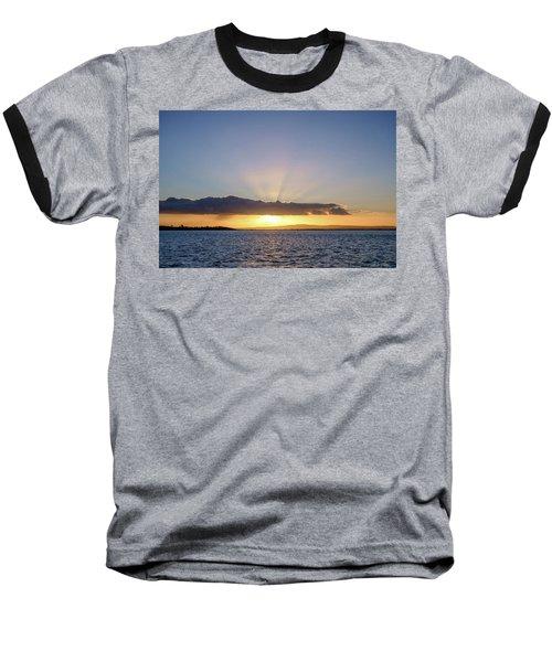 Sunset At Lough Derg Baseball T-Shirt
