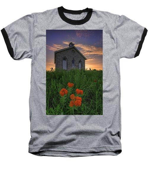 Sunset At Lower Fox Creek Schoolhouse Baseball T-Shirt