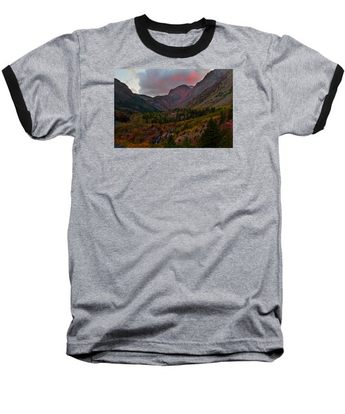 Sunset At Lundy Canyon During Autumn In The Eastern Sierras Baseball T-Shirt by Jetson Nguyen